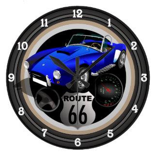 Relógio Grande Rota 66 do hot rod