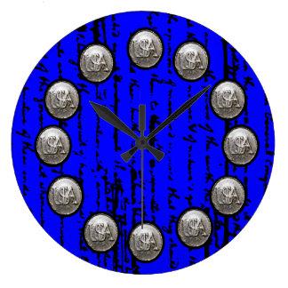 Relógio Grande Roteiro bonito do esboço por Thos. Jefferson 1776