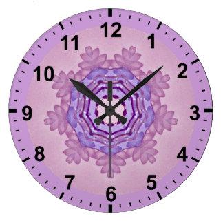 Relógio Grande ~ roxo macio do Fractal do teste padrão dos