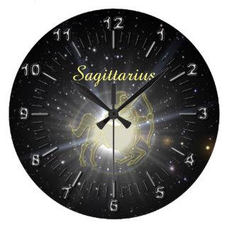 Relógio Grande Sagitário brilhante