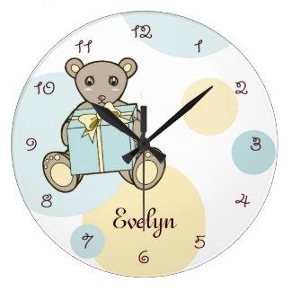 Relógio Grande Sala Pastel dos miúdos do berçário | dos desenhos