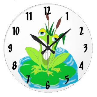Relógio Grande Sapo bonito