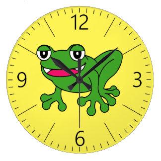 Relógio Grande Sapo engraçado