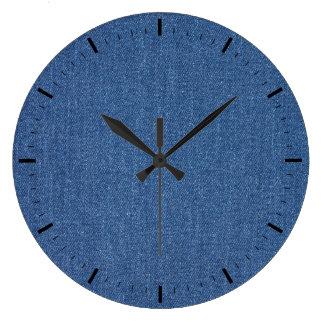 Relógio Grande Sarja de Nimes azul original de brim da forma do