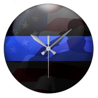 Relógio Grande Saudação de bandeira fina do chapéu de campanha de