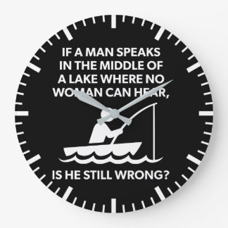 Relógio Grande Se um homem fala em um lago - pesca, novidade