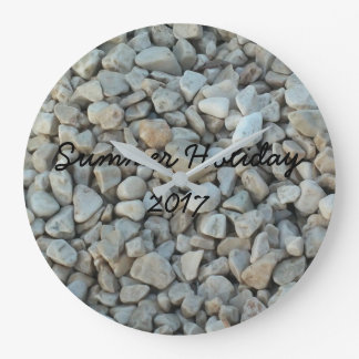 Relógio Grande Seixos na fotografia da pedra da praia