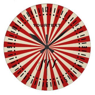 Relógio Grande Seletor clássico da roda de giro da pipoca retro