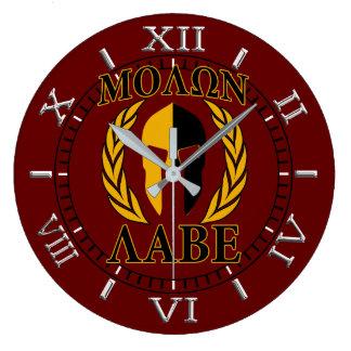 Relógio Grande Seletor espartano de Borgonha dos louros da