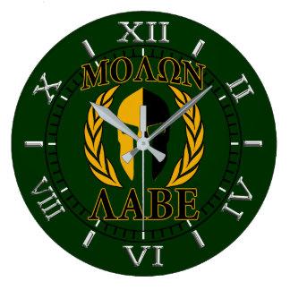 Relógio Grande Seletor espartano de Forest Green dos louros da