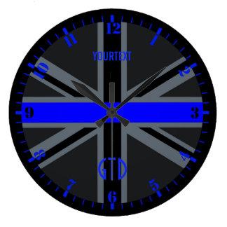 Relógio Grande Seletor fino personalizado Union Jack de Blue Line