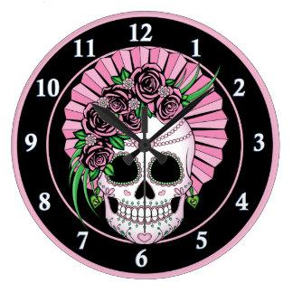 Relógio Grande Senhora Açúcar Crânio