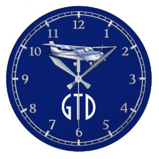 Relógio Grande Seu vôo clássico de Cessna dos aviões do monograma