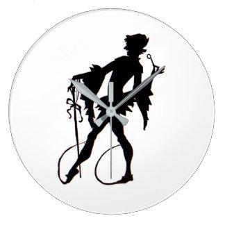 Relógio Grande silhueta do mágico do 1920