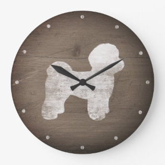 Relógio Grande Silhueta maltesa rústica