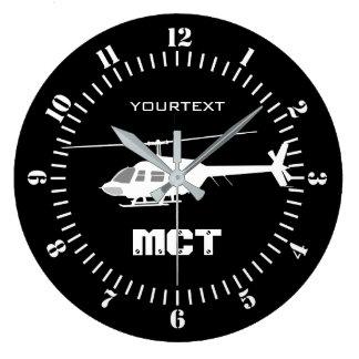 Relógio Grande Silhueta personalizada do interruptor inversor do