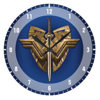 Relógio Grande Símbolo da mulher maravilha com a espada de