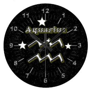 Relógio Grande Símbolo do Aquário