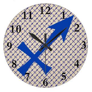 Relógio Grande Símbolo do Sagitário