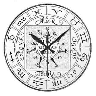 Relógio Grande Símbolos do zodíaco do sinal da astrologia