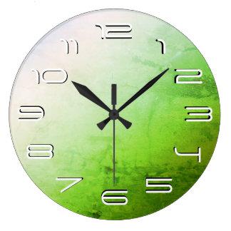 Relógio Grande Simplicidade elegante verde