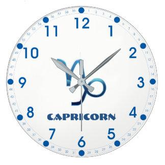 Relógio Grande Sinal azul do zodíaco do Capricórnio