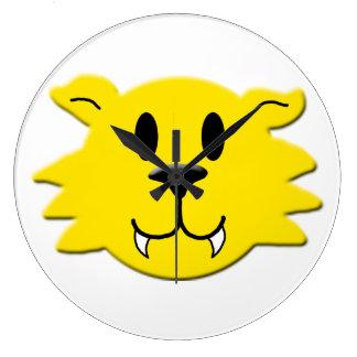 Relógio Grande Smiley do homem-lobo