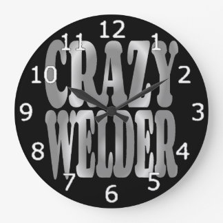 Relógio Grande Soldador louco na prata