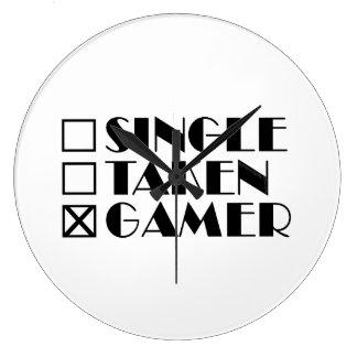Relógio Grande Solteiro tomado ou Gamer