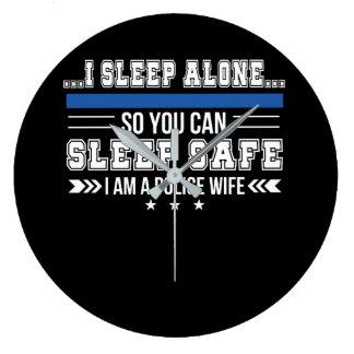 Relógio Grande Sono da esposa da polícia apenas você pode dormir