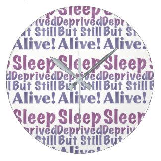 Relógio Grande Sono destituído mas ainda vivo em roxos sonolentos