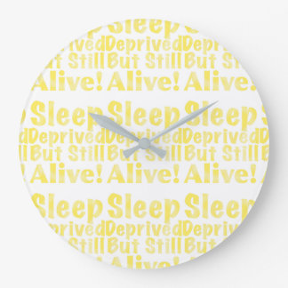 Relógio Grande Sono destituído mas ainda vivo no amarelo