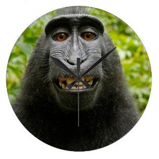 Relógio Grande Sorrindo o macaco