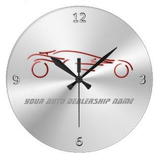 Relógio Grande Sportscars vermelho estilizado no metálico-olhar
