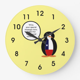 Relógio Grande Sr. de fala chileno Pinguim