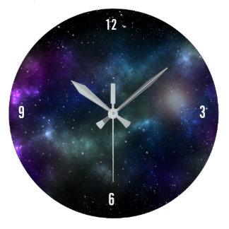 Relógio Grande Starfield com poeira cósmica colorido
