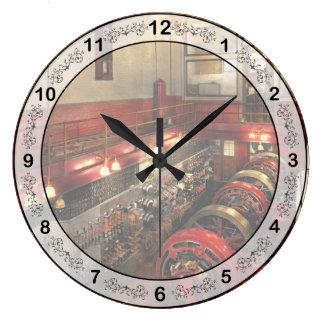 Relógio Grande Steampunk - a sala de motor 1974