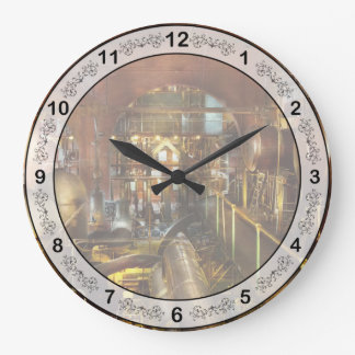 Relógio Grande Steampunk - pense - tanques