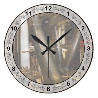 Relógio Grande Steampunk - rodas do progresso