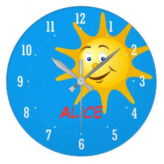 Relógio Grande Sun de sorriso | Personalizable