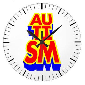 Relógio Grande Super-herói do autismo