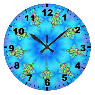 Relógio Grande ~ superior do Fractal de Dreidel do ~Blue
