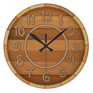 Relógio Grande Tambor de cerveja de madeira do tempo ocidental da