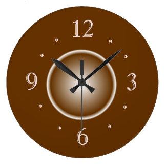 Relógio Grande Tan Brown com efeito do fulgor branco > pulsos de
