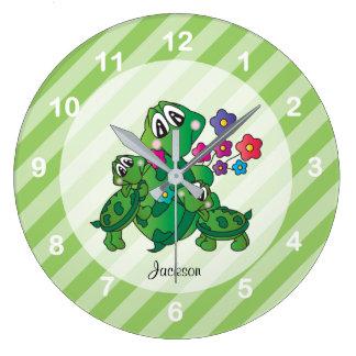 Relógio Grande Tartaruga bonito de Momma dos desenhos animados e