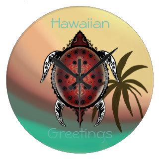 Relógio Grande Tatuagem da tartaruga da fantasia