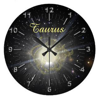 Relógio Grande Taurus brilhante