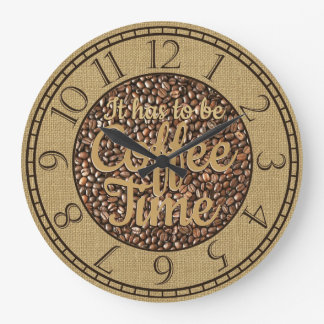 Relógio Grande Tem que ser tempo do café rústico