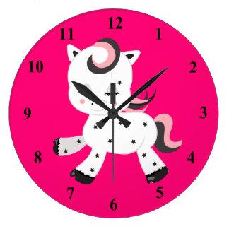 Relógio Grande Tema do pônei do estilo de Kawaii