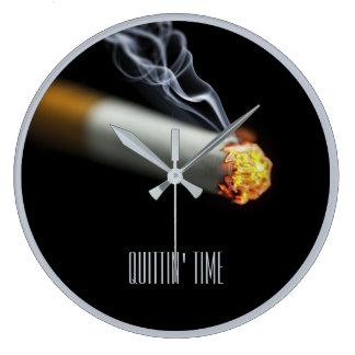 Relógio Grande TEMPO DE QUITTIN:  Pare de fumar o lembrete